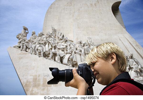 photographing., ragazzo - csp1495074