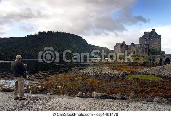 Photographing scenic Castle - csp1481478