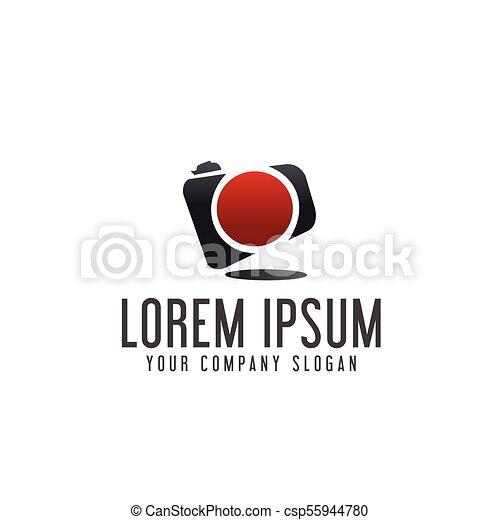 Photography Camera Logo Design Concept Template