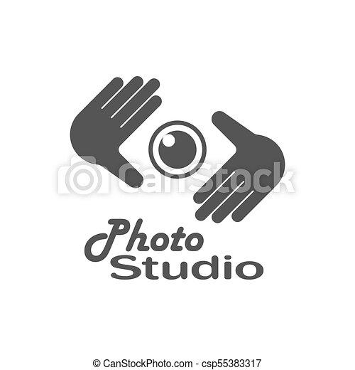 Photography logo design template. retro vector badge. photo studio ...