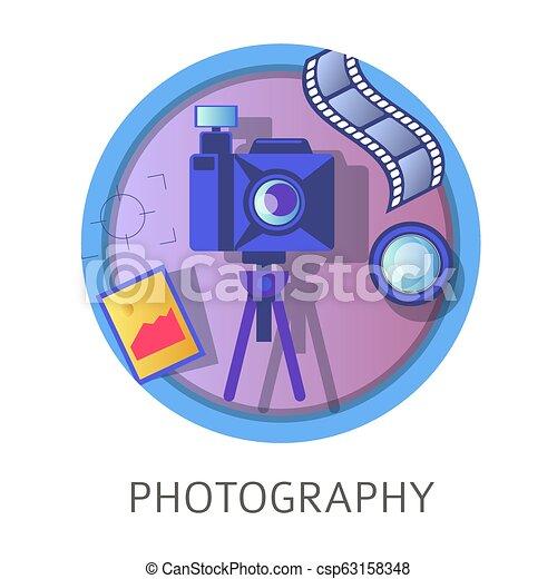 Photography studies, subject at school, university discipline class - csp63158348