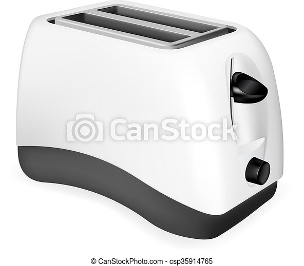 Photorealistic electric toaster - csp35914765