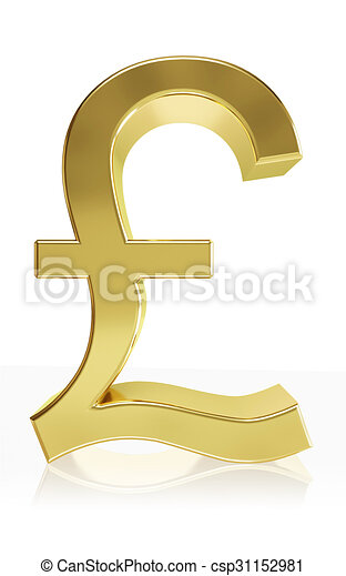 Photorealistic Symbol Of The Currency Symbol Pound Very High