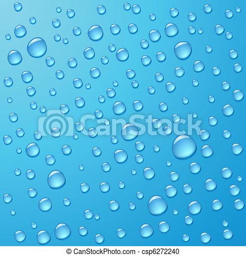 Photorealistic water drops - csp6272240