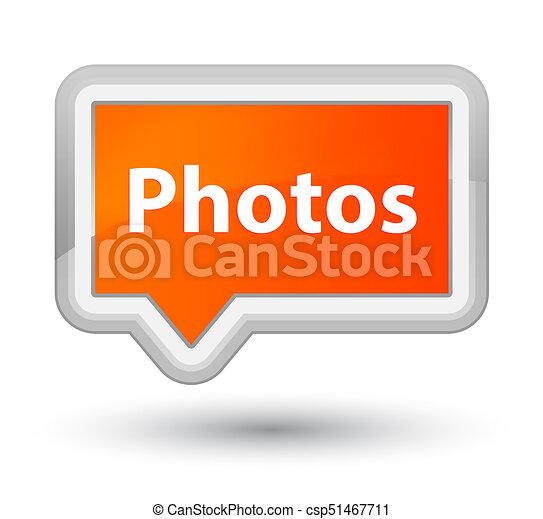 Photos prime orange banner button - csp51467711