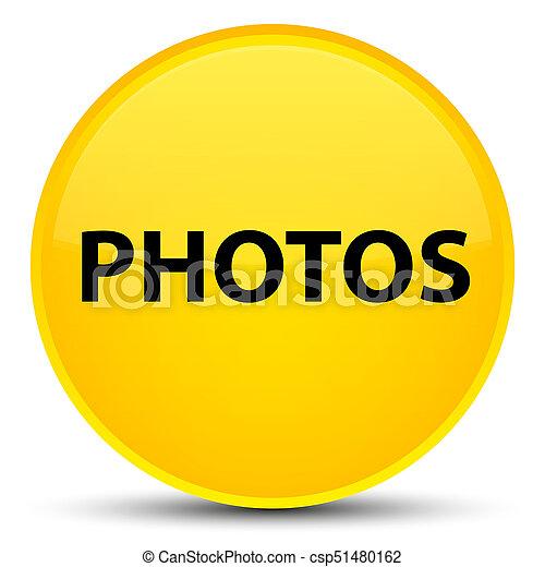 Photos special yellow round button - csp51480162