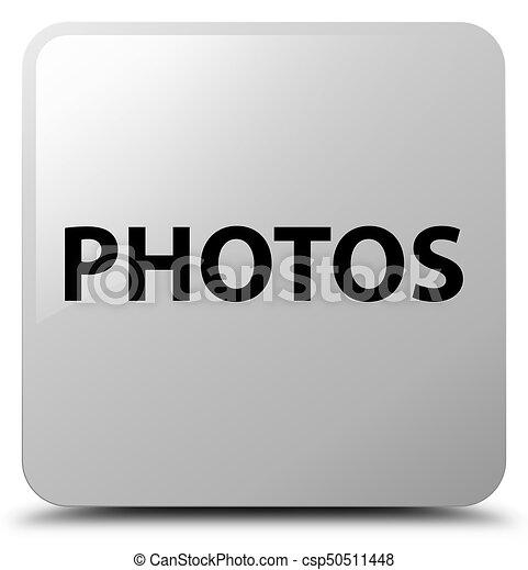 Photos white square button - csp50511448