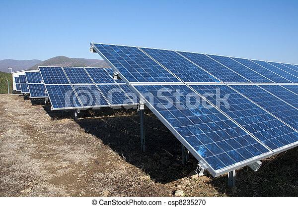 photovoltaïque, panneaux, solaire - csp8235270