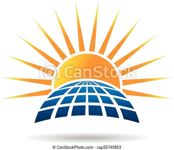 photovoltaic, gráfico, panel., energia, vetorial, desenho, solar - csp35745853