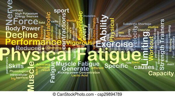 Physical fatigue background concept glowing - csp29894789