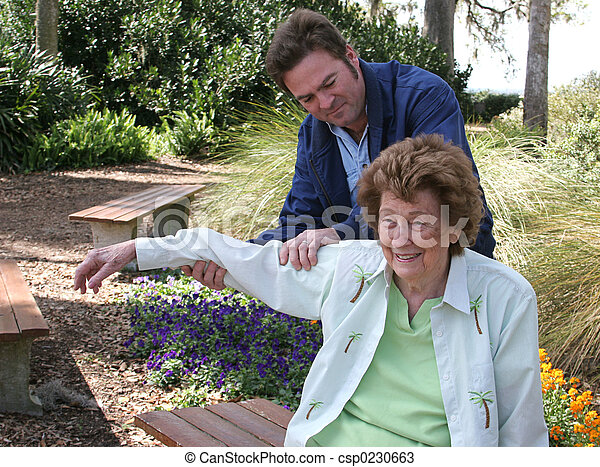 Physical Therapy In The Garden - csp0230663