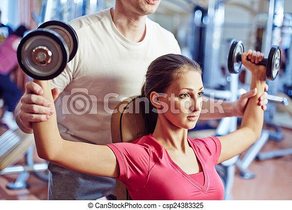 Physical training - csp24383325