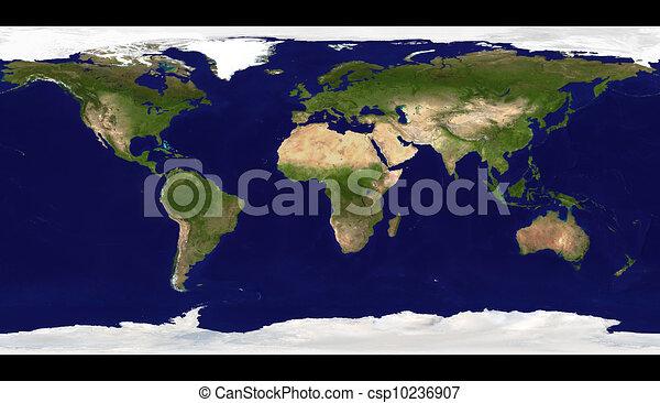 Physical World Map Illustration Big Size Physical World Map
