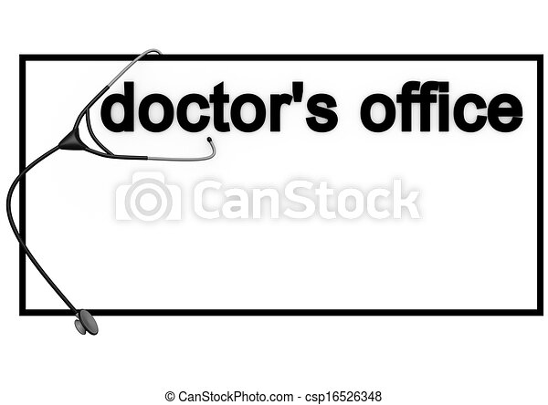 physician sign with english lettering doctors office drawing ...