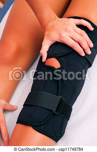 physiotherapy knee brace - csp11749784