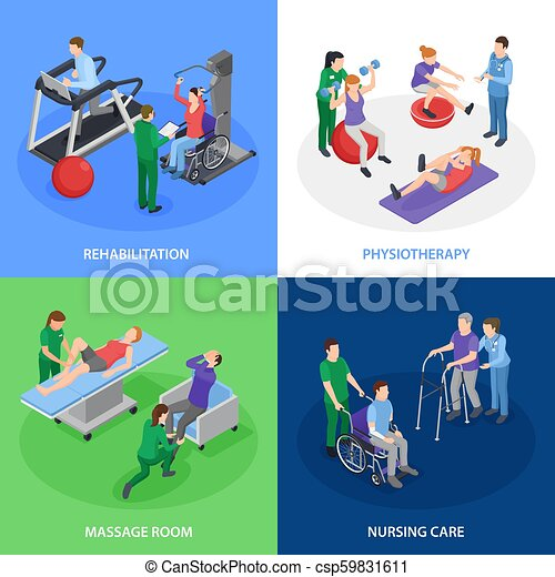 Physiotherapy Rehabilitation Isometric Concept - csp59831611