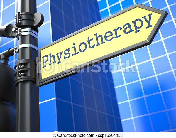 Physiotherapy Roadsign. Medical Concept. - csp15264453