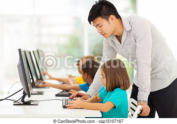 pièce école, informatique, élémentaire, enseignement, prof - csp15107167
