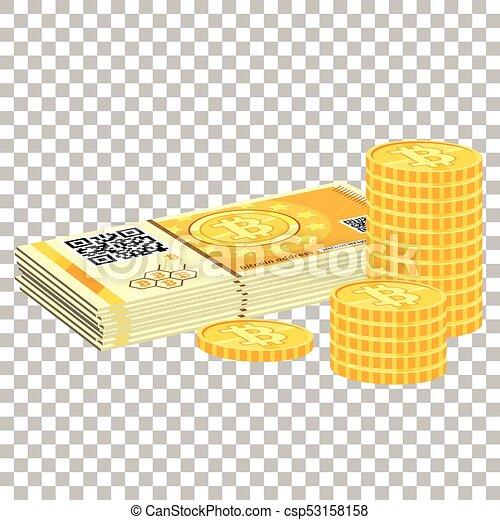 pièces, crypto, bitcoin - csp53158158
