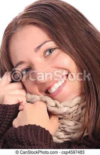 piękna kobieta, młody - csp4597483