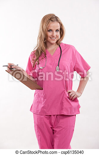 piękny, doktor, pracownik, dwudziestki, healthcare, pielęgnować, kaukaski - csp6135040