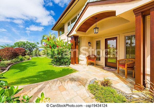 piękny, dom powierzchowność - csp19434124