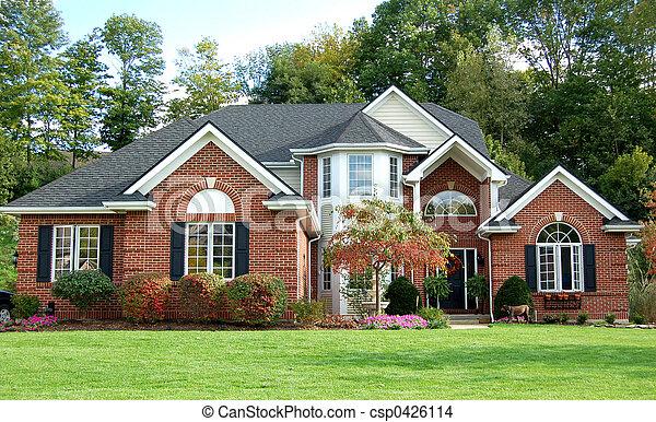 piękny, dom - csp0426114