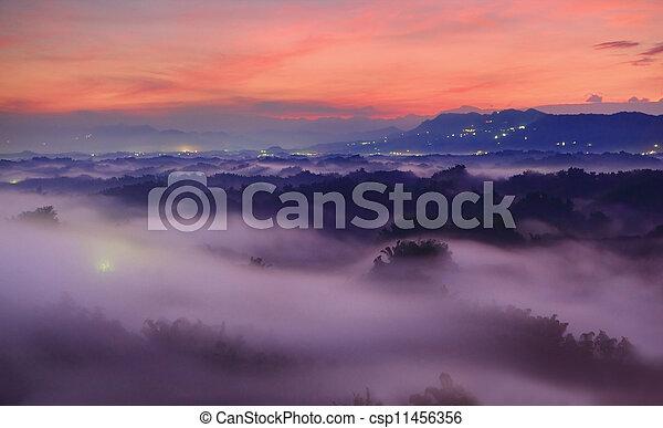 piękny, góry, chmura - csp11456356
