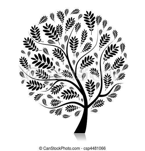 piękny, jesień, projektować, drzewo, twój - csp4481066
