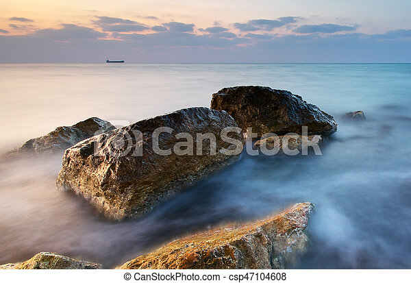 piękny, motyw morski - csp47104608