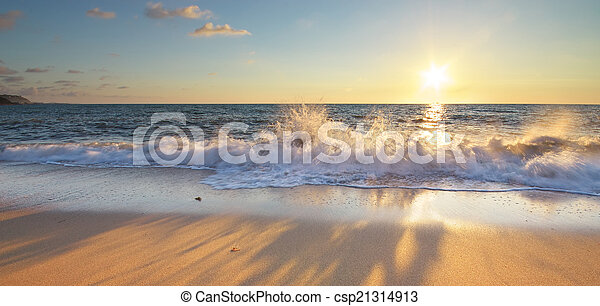 piękny, seascape. - csp21314913