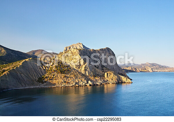 piękny, seascape. - csp22295083