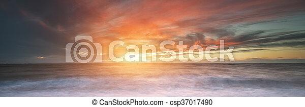 piękny, seascape. - csp37017490