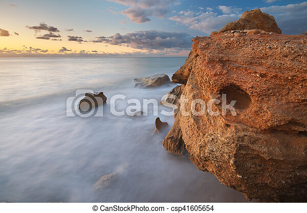 piękny, seascape. - csp41605654