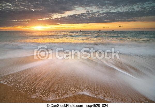 piękny, seascape. - csp45281024