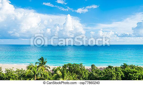 piękny, seascape. - csp77860240
