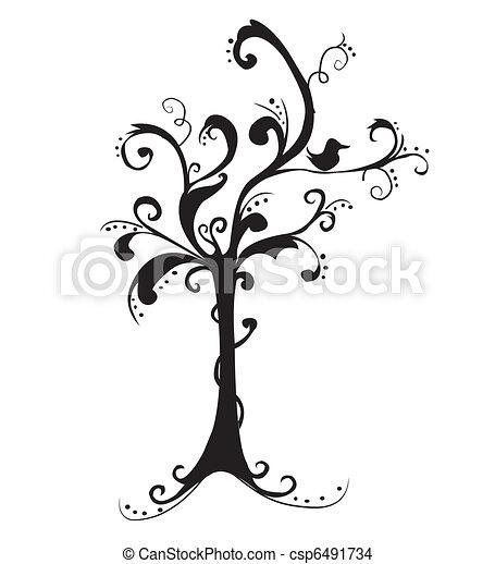 piękny, sztuka, drzewo - csp6491734