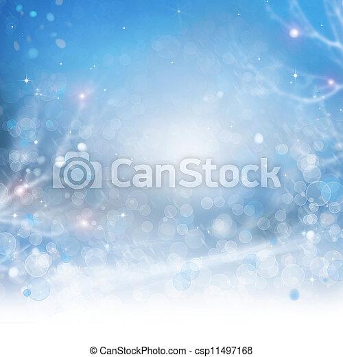 piękny, tło., abstrakcyjny, bokeh, zima - csp11497168