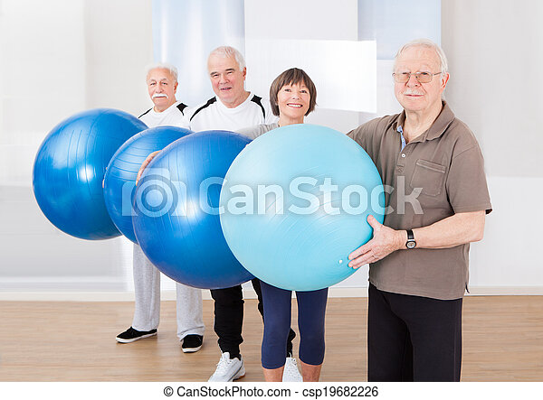 piłki, ludzie, zaufany, transport, stosowność, senior - csp19682226