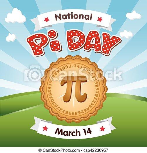 Día de Pi, 14 de marzo, vacaciones - csp42230957