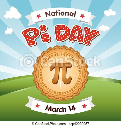 Pi Day, March 14, Holiday - csp42230957