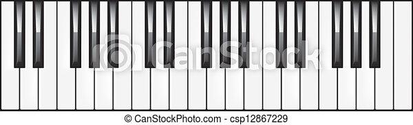 3octava ilustración de piano - csp12867229