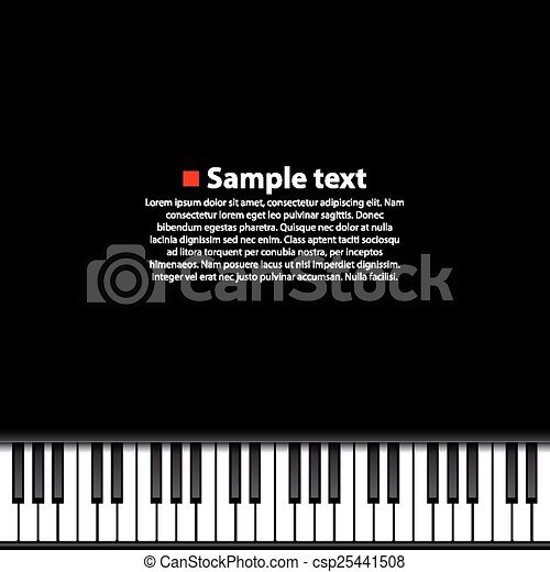 Piano Background Art Music Banner Vector Illustration