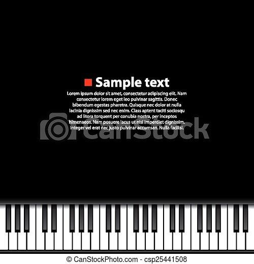 Piano Background Art Music Banner Vector Illustration