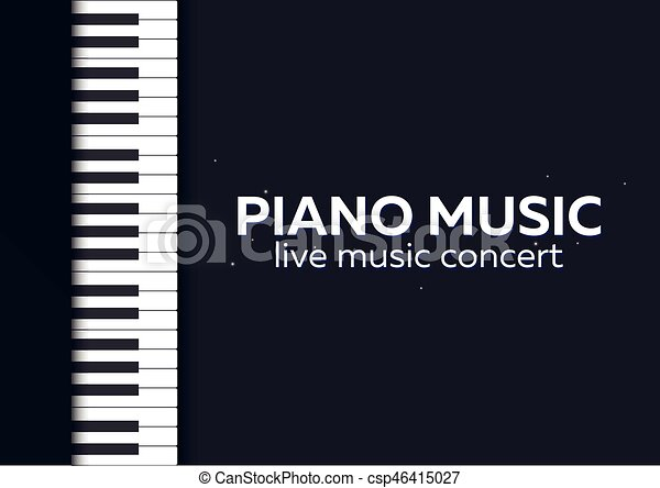 Piano Concert Poster Design Live Music Keys Vector Illustration