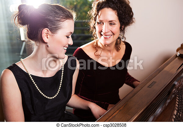 Piano fille jouer m re fille ensemble m re portrait images rechercher photographies - Ensemble mere fille ...