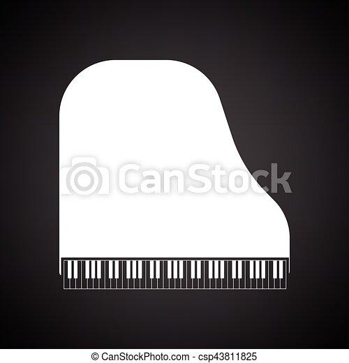 piano, grandioso, ícone - csp43811825