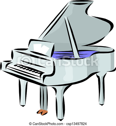 Piano illustration. - csp13497824