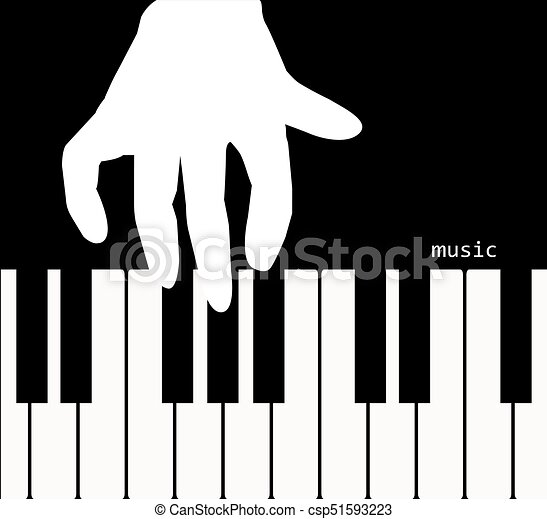 Hand Touching The Keyboard Of A Piano