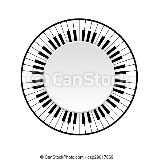 piano keyboard - csp29017069